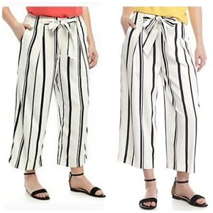 [Madison] Plus Stripe Cropped Pants